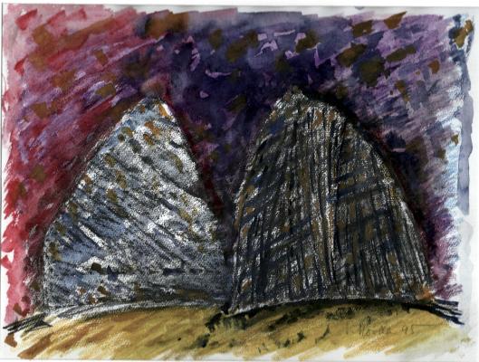 17-konfrontation-grafit-u.-auarell-26-x-35-cm-1995