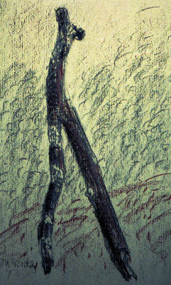 zweig-pastellkreide-auf-papier-1992