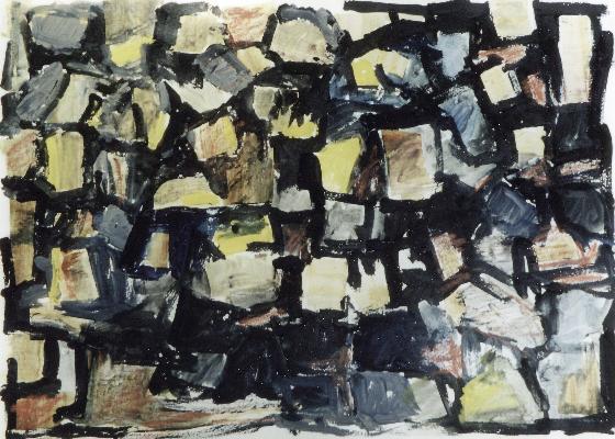 lanzarote-mauer-collage-chinatinte-1999
