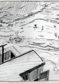 Bei Taormina. Bleistift. 1987